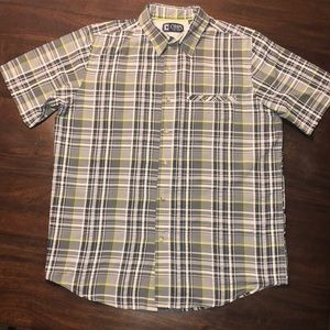 Chaps Plaid Camp Shirt Men's Sz M
